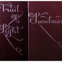 Purpule Leather Silver Calligraphy